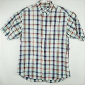 Brooks Brothers Mens Large Button Up Plaid Shirt